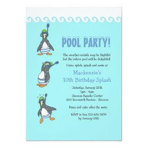 Winter Pool Party Invitation