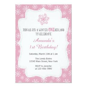 Winter Snow Birthday Invitations