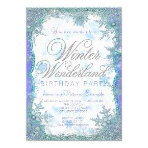 Winter Wonderland Frozen Birthday Party Card