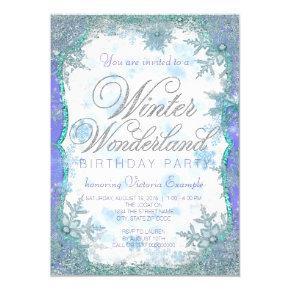 Winter Wonderland Frozen Birthday Party Invitation