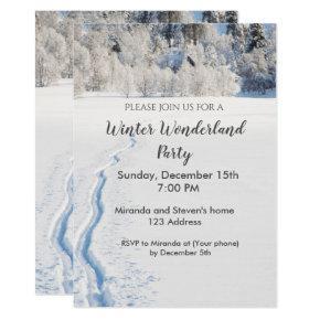 Winter wonderland party invitation card