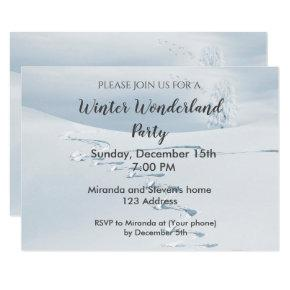 Winter wonderland party invitation Invitations