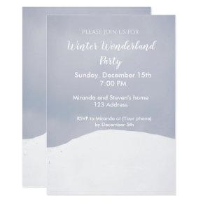 Winter wonderland party invitation