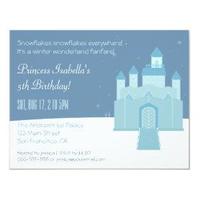 Winter Wonderland Princess Birthday Party Invitations