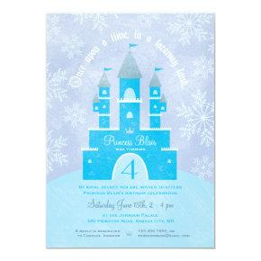 Winter Wonderland Princess Party Invitations
