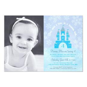 Winter Wonderland Princess Party Photo Invitations