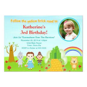 Wizard Of Oz Birthday Invitation Photo