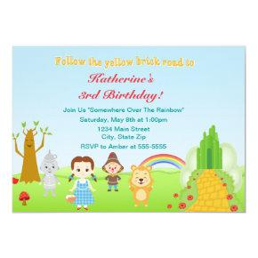 Wizard Of Oz Birthday Party Invitation