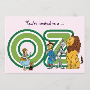 Wizard of Oz Girl Birthday Party Invitation