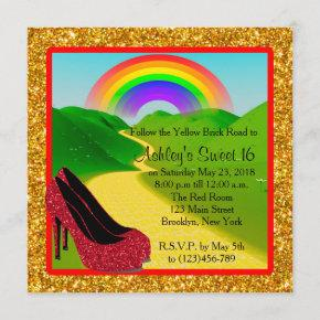 Wizard of Oz Sweet 16 Invitation
