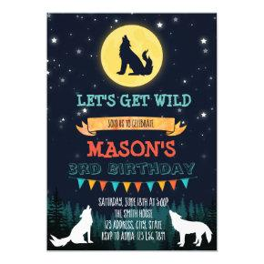 Wolf birthday party invitation