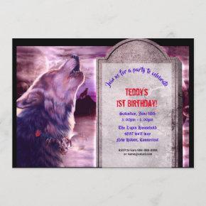 Wolf Halloween Party Invitation