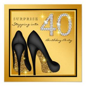 Womans Surprise 40th Birthday Party Card