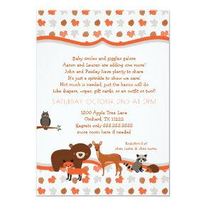 Woodland Creatures Fall Neutral Baby SPRINKLE Card