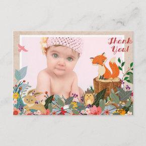 Woodland Fairy Photo Thank You Card