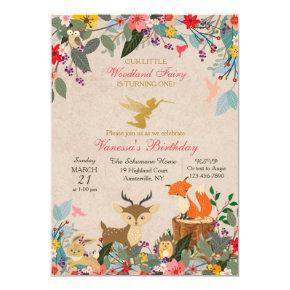 Woodland Fairy Simple Invitations