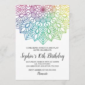 Yoga Birthday Invitation