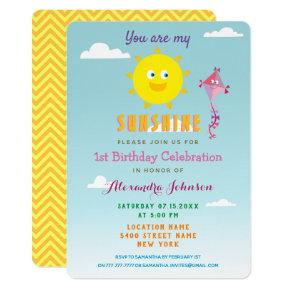 You are my Sunshine, 1st Birthday Summer Invitation