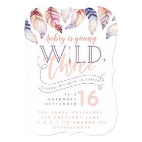 Young, wild and three third birthday invitation. invitation