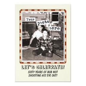 Your Photo Vintage Cowboy Party Invitations