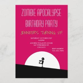 Zombie Apocalypse Birthday Party Invitation