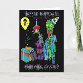 zombie birthday  (blank)
