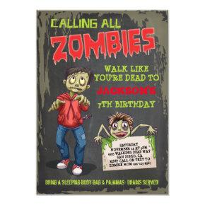 Zombie birthday party invitations candied clouds zombie birthday party invitations stopboris Images
