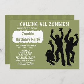 Zombie Birthday Party -Other Occasion- Invitation