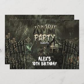 Zombie Graveyard Birthday Party