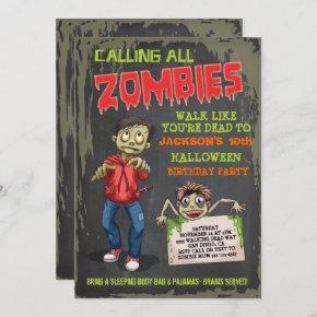 Zombie Halloween Birthday Party