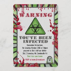 Zombie Infection Party Invitation