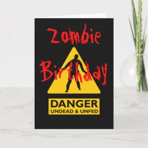 Zombie Undead and Unfed Birthday
