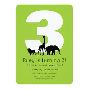 Zoo birthday invitation