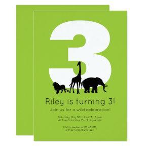 Zoo birthday Invitations