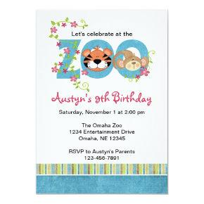 Zoo Birthday Party Invitations